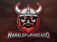 Harald Fork Beard Mascot Logo