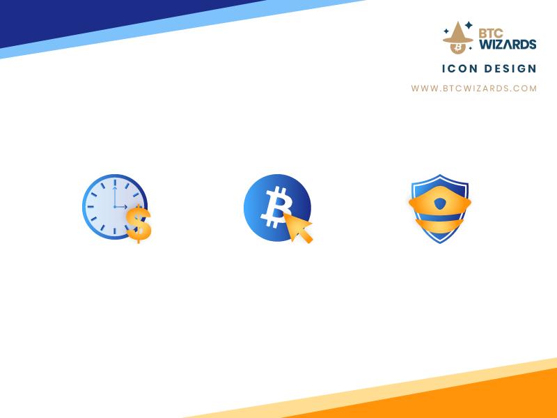 Btc Wizards Icon Designs graphic design design bitcoin cryptocurrency btc wizards icon design icons
