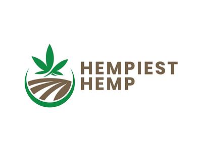 Hempiest Hemp Logo Design hemp flower cbd high cbd hempiest hemp hemp logo identity branding logo design graphic design design