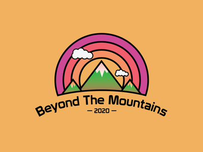 Beyond The Mountains illustration illustrator outdoors mountains beyond the mountains thick lines patch badge