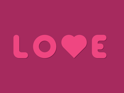 Love vector graphic design heart lines thick lines illustration illustrator design world love love