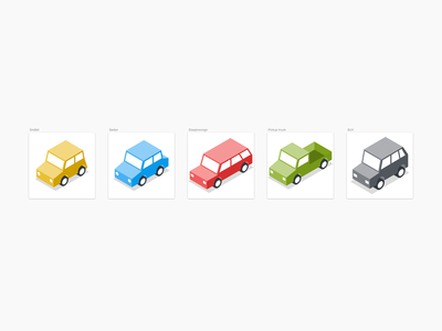 Isometric car icons