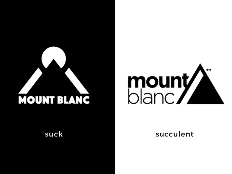 Mount Blanc Internal Redesign typography solid awesome rebrand redesign refresh outdoor wilderness mountain
