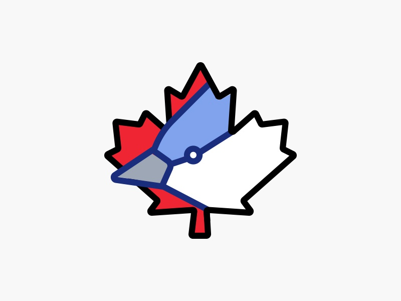 Toronto Bluejays jay blue blue jays toronto bluejays toronto redesign bluejays baseball logo mark logo