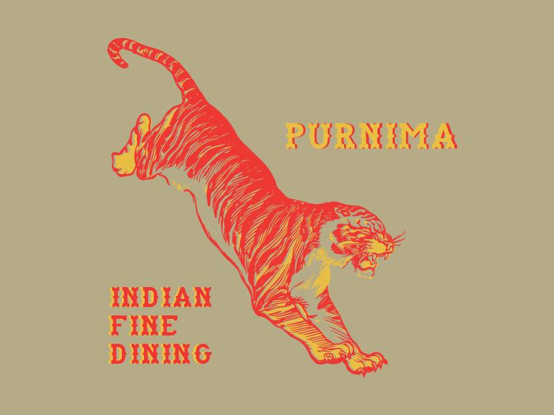 Purnima Tiger restaurant branding branding restaurant food tigre india indian tiger