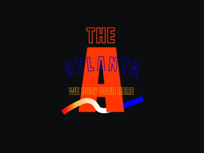 The A atl clean letters type typography gradient line busy the a a atlanta