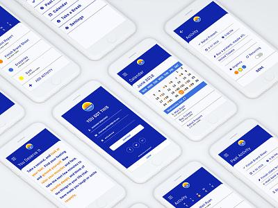 Horizon App Screens anxiety depression digital application ux ui screen mental health app