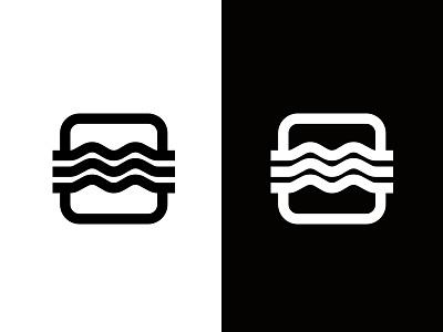 Overflow flood logo icon river
