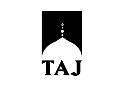 Taj Mahal negative space logo indian india taj mahal taj