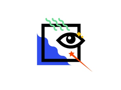 The Eye freaky magic mystical illustration squiggle star geometry eye