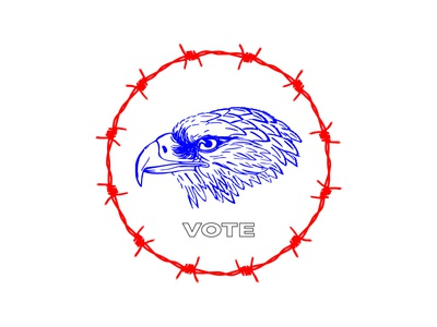 Do the Left thing american plz vote american eagle barbed wire politics america vote
