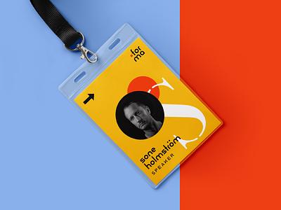 Forma Name Badge event branding name tag name badge branding