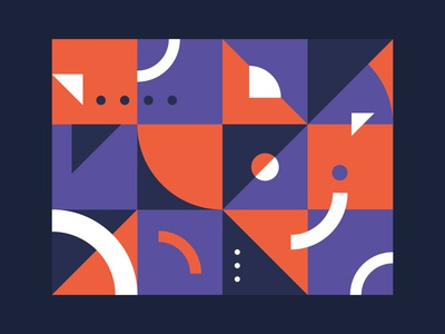 Shapes shapes abstract geometric illustration