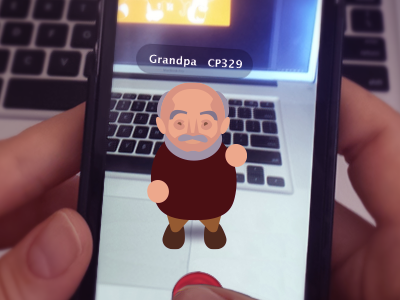A Wild Grandpa Appears! not real ar ux android ios mobile game indie game