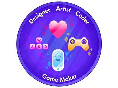 Everyone can make games! game design good times sticker badge girl guides creativity inspire diy make games games