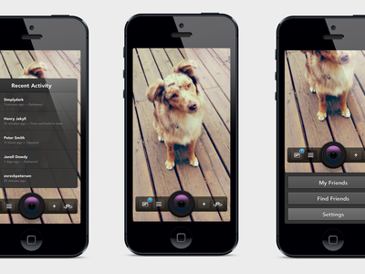Snapchat Redesign ui ux design ios snapchat retina redesign interface rebound psd dog freebie camera