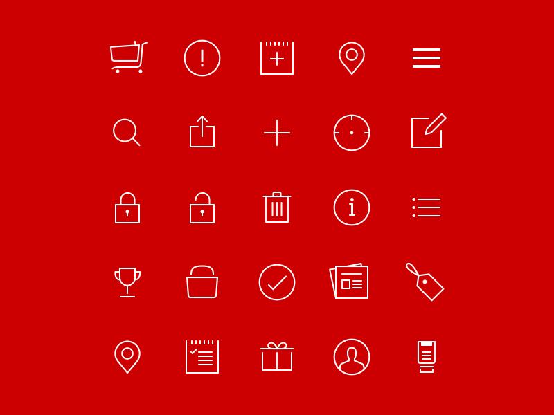 iOS 7 Icons flat icon set set glyph icons glyph iconography vector line icons ios7 ios 7 icons icon