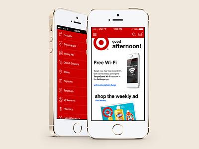 Target iOS 7 (iPhone) iphone app ios target ios 7 ios7 ui flat flat design ux iphone app