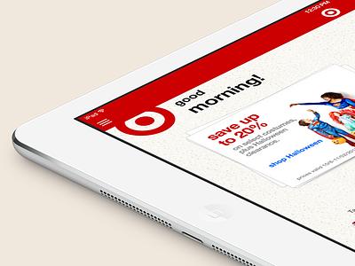 Target iOS 7 (iPad) target ios 7 ios7 ui flat flat design ux app ios ipad ipad app