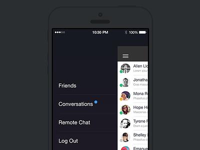 Unused Menu Idea guildwork menu navigation ios7 ios 7 flat ui ios user interface ux design mobile