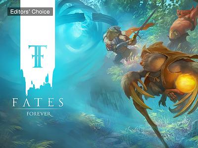 Fates Forever ux game ui game app store web design ui contestant moba