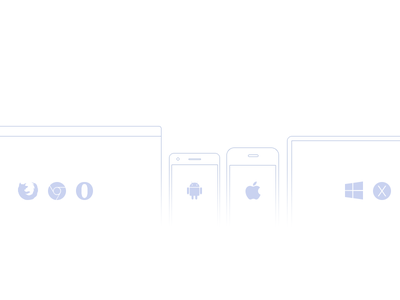 Devices web app android ios design web icons stroke outlines apps browsers flat flat design
