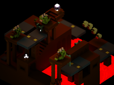 Seesaw Swizzle toad magicavoxel voxel iso 3d