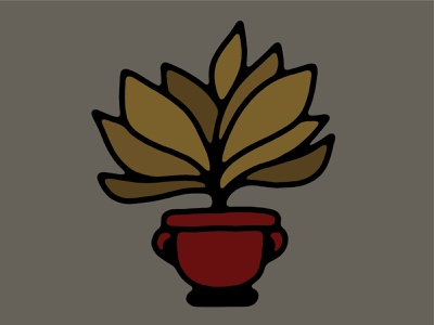Plant leaves plant hand drawn simple illustration lines