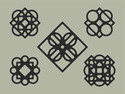 Circles + Squares graphic design symmetry simple shapes decorative lines geometric black and white abstract