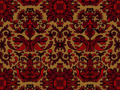 Fancy Pattern damask symmetry pattern floral hand drawn lines illustration