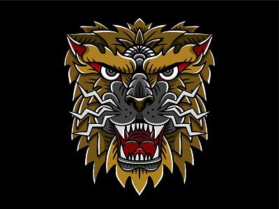 Roar! graphic design bold design shapes animal lines illustration