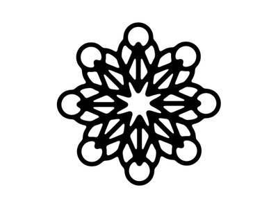 Star abstract design symmetry decorative star geometric shapes vector