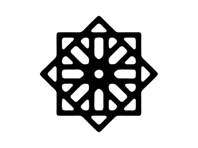 Flower symmetry geometic decorative graphic design lines black and white simple shapes vector abstract