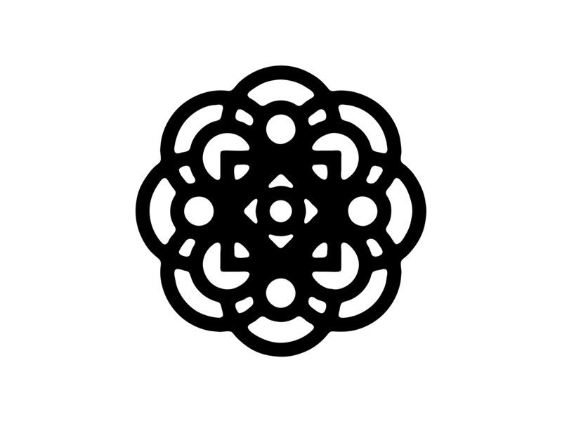 Circles circles symmetry geometric vector graphic design shapes abstract simple black and white lines