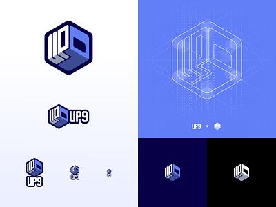 Up9 - Logo Conception vector future test testing branding app ai automation concept logo