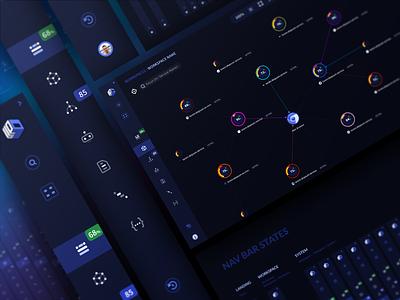 Up9 - Navigation Bar web design nodes charts automation testing menu component icons system design platform web app ux design ui
