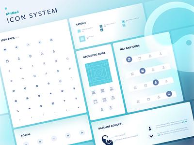 AfriMed Design System - Day 2, Icons pixel perfect system design icon design geometric icon set icons minimal illustration icon branding vector web ux flat design ui