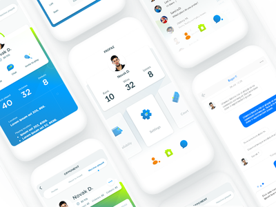 Tennis App - Day 04 vector ux ui tennis mobile ios illustration gradient flat design app android