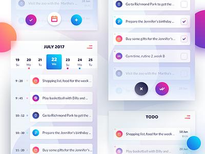 TODO App UI- Day 3 android ios free task todo app design color gradient xd ux ui