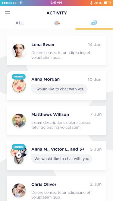 3 activity   notification message tab