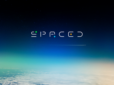 "Spaced Logo for ""SPACED Design Challenge"" planets galaxy travel future contest challenge spacedchallenge space spaced logo"