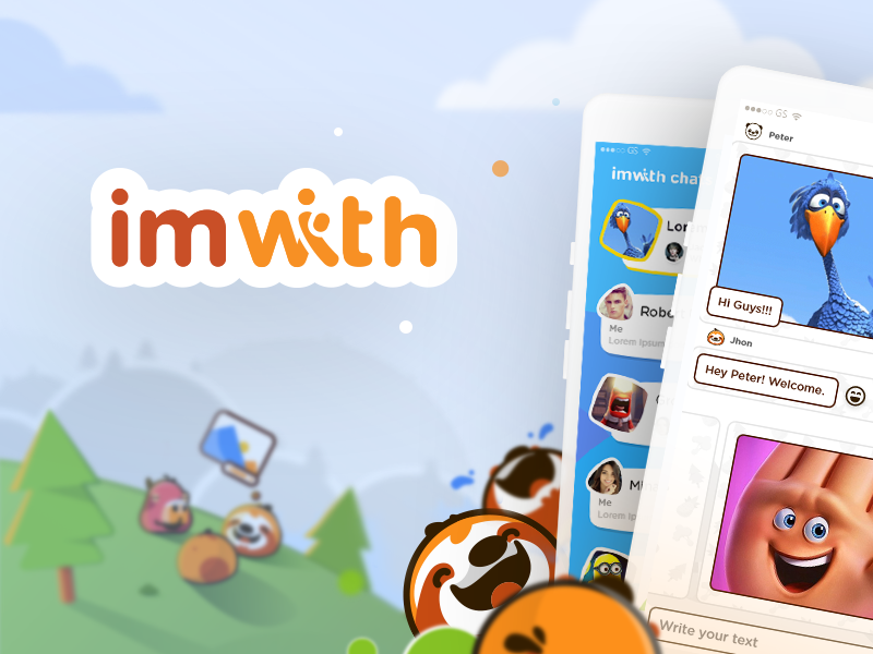 imwith Day 3 - Social Artwork Content animals funny mobile app artwork social vector illustration ux mobile ios app flat design ui