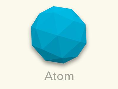 Atom Icon Replacement icon 3d blender atom isohedron