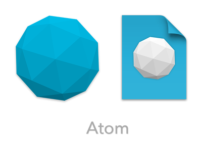 Atom Icons icon atom document application replacement blue code