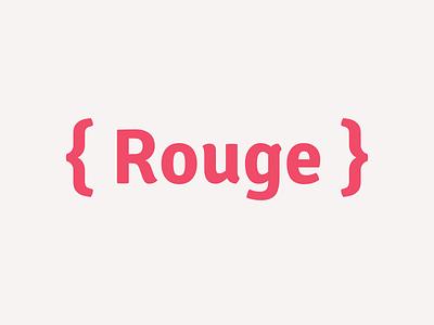 Rouge Logo logo mark code development ruby