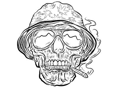 The Addicted Skull art direction sketch art illustration graphic design