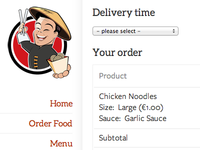 Food Ordering Checkout