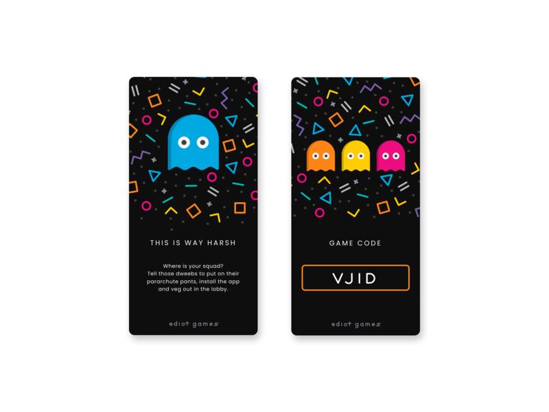 80's themed mobile app / game ui 80s firstshot design games mobile