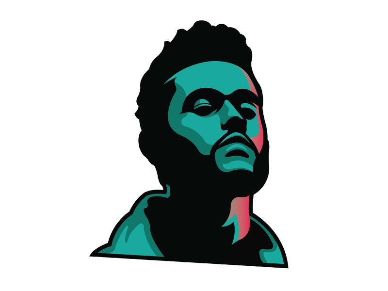 The Weeknd identity branding ui vector minimal logo illustration icon flat design