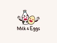 Milk & Eggs Logo Design